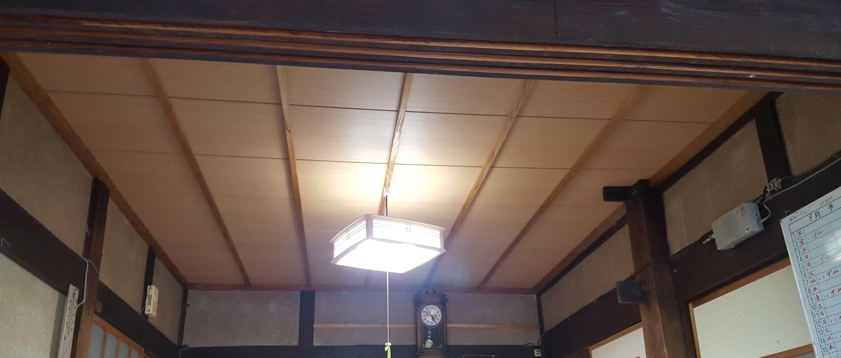 居間天井完成