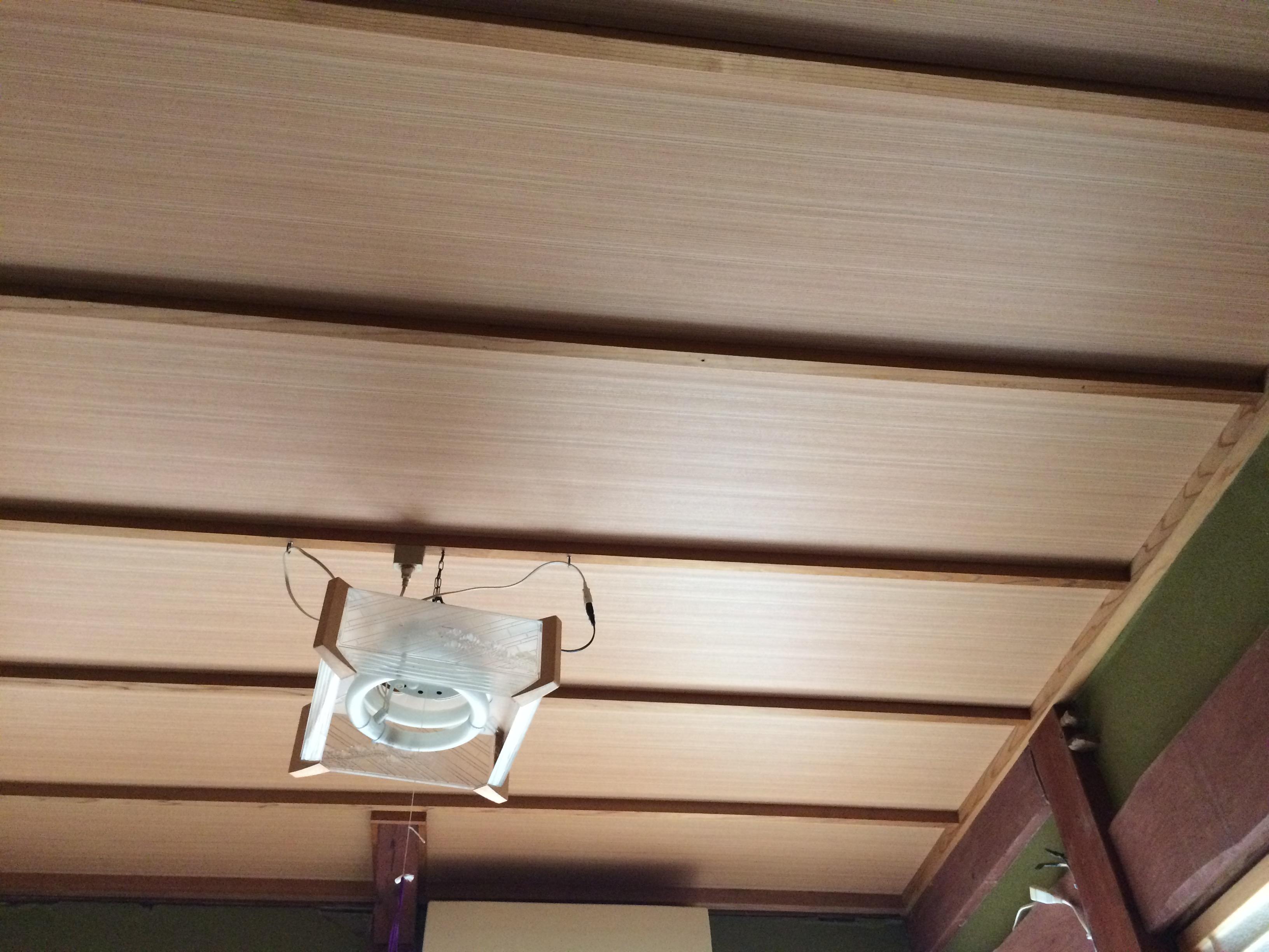 寝室天井完成