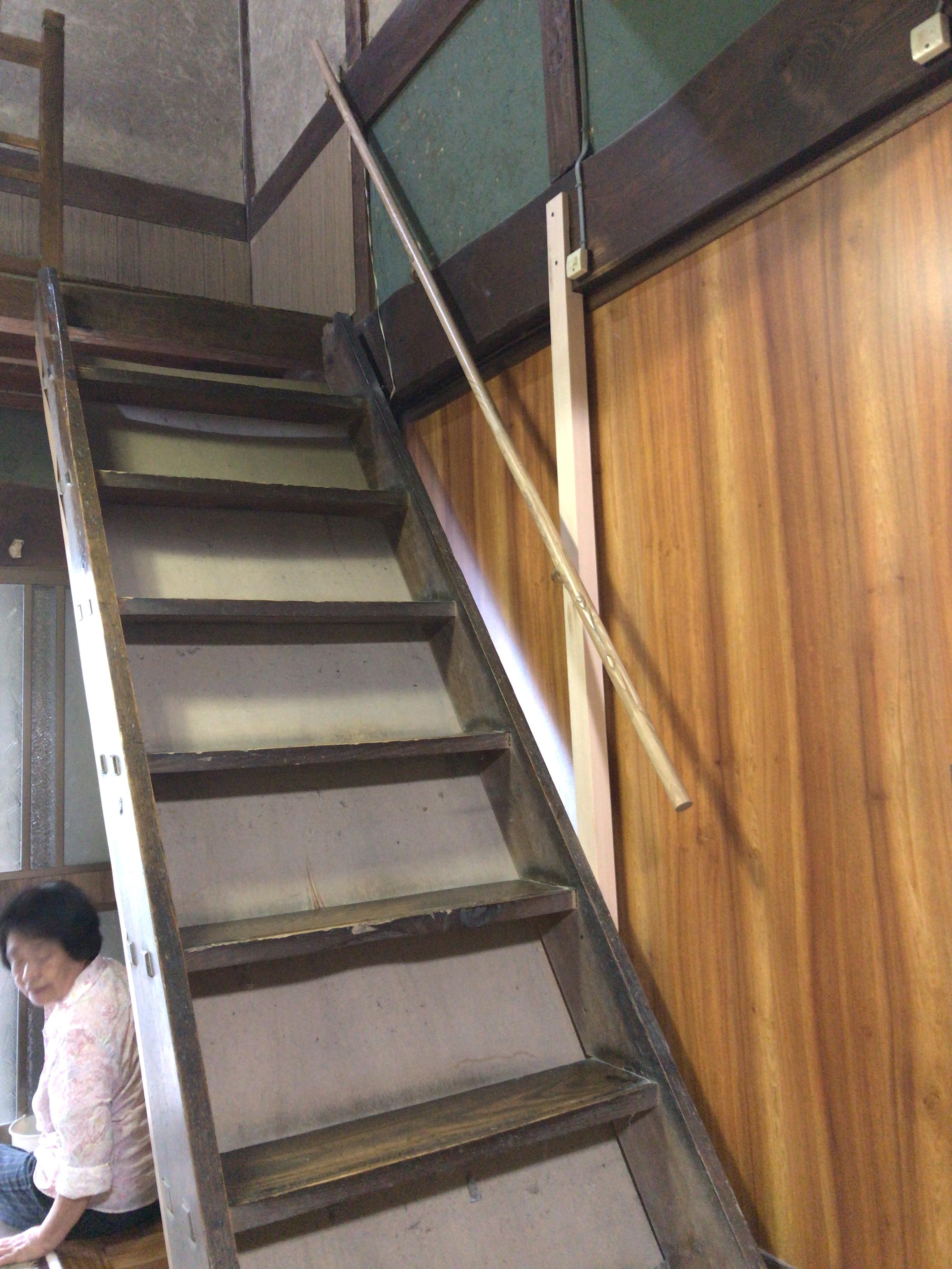 階段手すり完成
