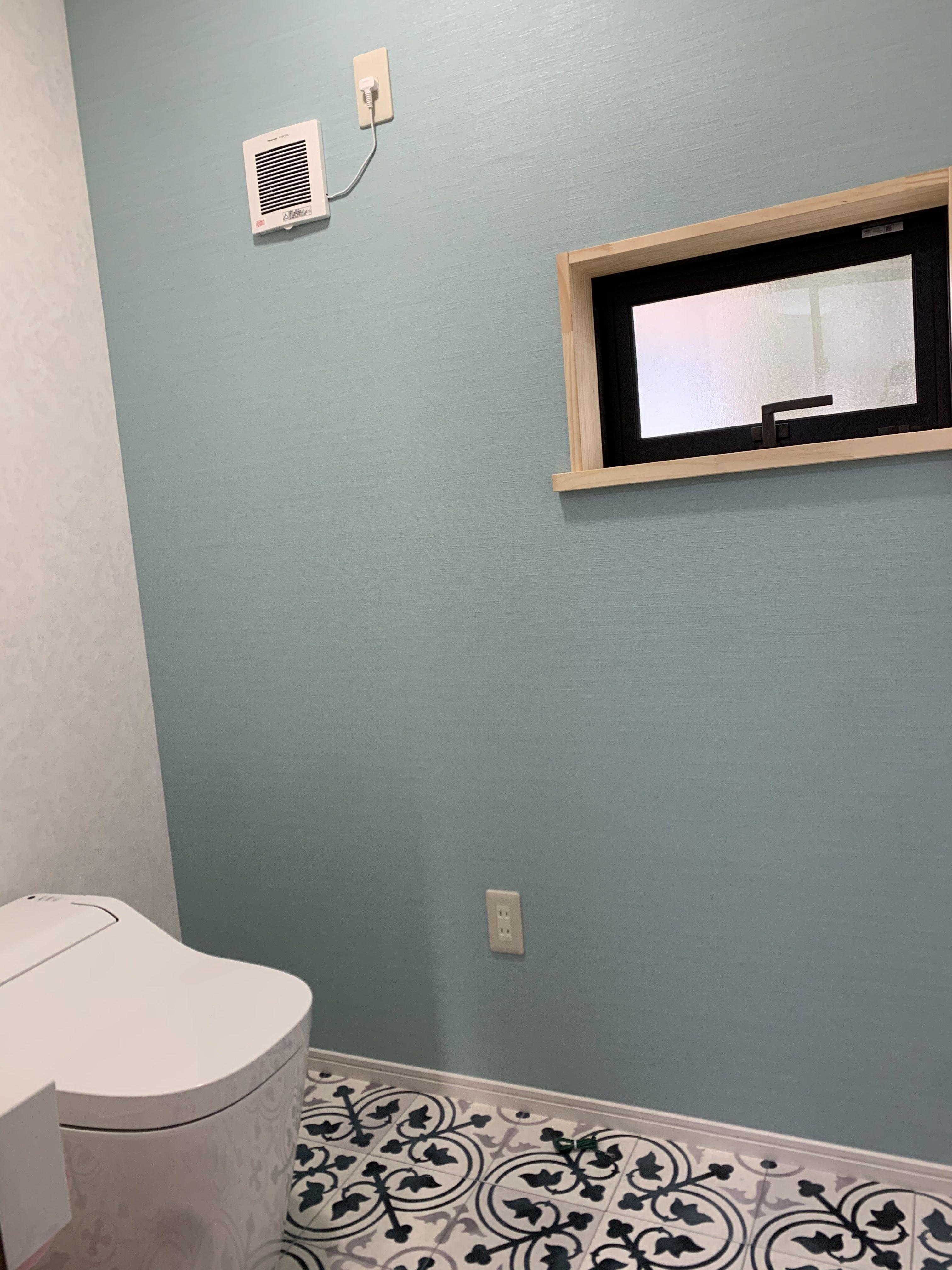 念願のトイレ! しかも泡洗浄機能付き