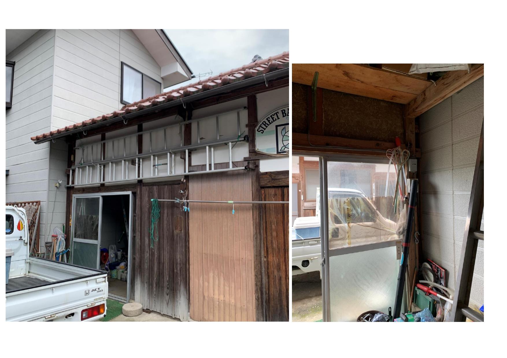 施工前:離れに隣接の納屋